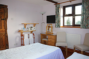 Twin bedroom at Nutshell Cottage - Bed & Breakfast - Near Hartpury College Gloucestershire